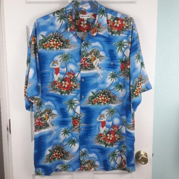 Pierre Cardin Other - Men's Pierre Cardin pin-up girl Hawaiian Shirt